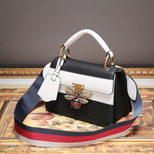 P251 European fashion Small Casual female bag diamond bee lock Handbag Shoulder bags Women Messenger Bag