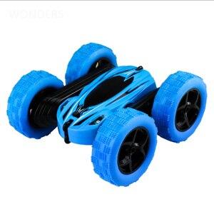 Image 2 - 2.4 ghz のリモートコントロール車スタント rc カー高速点滅 3D フリップロールグリーン & ブルー電気レースダブル 4s のおもちゃクリスマスギフト