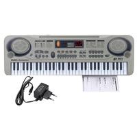 Children 21 Electric Piano LED 61 Keys Music Electronic Keyboard Key Board USB Port MP3 Play