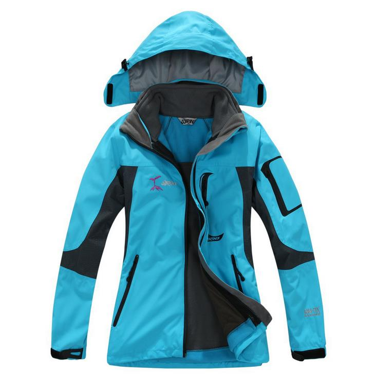 Winter Women's Outdoor Waterproof Detachable Tactical Ski Snowboarding Hooded Jacket 3 in 1 Jacket For Hiking Camping