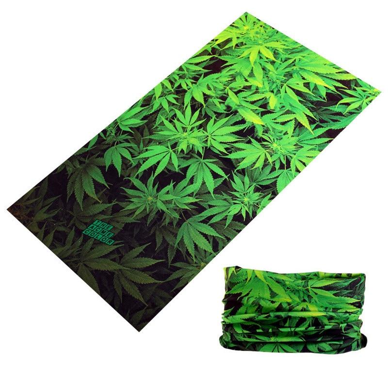 Pirate Scarf Bandanas Hijab Kerchief Neck-Warmer Buffe Green-Leaves Magic Shemag Unisex