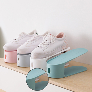 Double Stand Shoe Rack Storage Organizer Shelves Stand Adjustable Shoe Holder Save Space Shoes Organizer