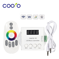 WS2812B LED Strip Colorful X2 Led Music Controller DC5V 24V Input Max 1000pixels With RF Touch Remote led music controller music controller led music -
