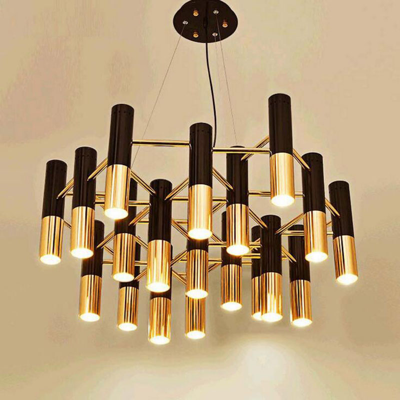 Post-modern villa atmosphere living room dining room chandelier Nordic minimalist creative personality bedroom flashlight bar led ledchandelier post modern minimalist living room nordic creative bedroom dining room lights abaju