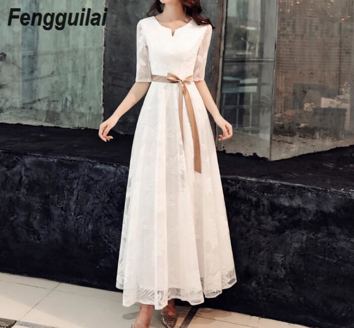 V-neck High Quality White Backless Bodycon Rayon Bandage Dress Club Party simple dress women  FENGGUILAI