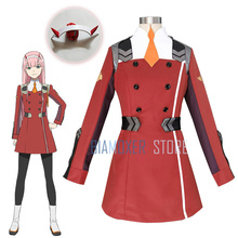 DARLING in the FRANXX ZERO TWO Code: 002 02 Cosplay wigs Outfit Dress C