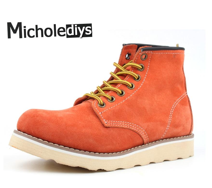 Micholediys recién llegado de primavera hechos a mano Vintage Nubuck - Zapatos de hombre