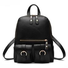 2017 новая мода mochila masculina кожа pu школьные сумки девушки рюкзак школьный мешок женщин случайный стиль водонепроницаемый back bags