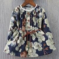 Meninas do bebê Outono Vestido Criança Flor do Aniversário Dos Miúdos Roupas Infantis Coreano Meninas Formal Vestidos Roupa Das Crianças Crianças Traje