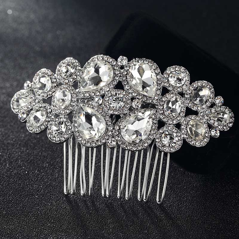 12pcs lot wholesale Rhinestone Crystal Hair Combs Accessories Tiara Rhinestone Head Jewelry for Gifts Wedding hair
