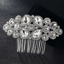 12pcs/lot wholesale Rhinestone Crystal Hair Combs Accessories Tiara Rhinestone Head Jewelry for Gifts Wedding hair Combs Bijoux