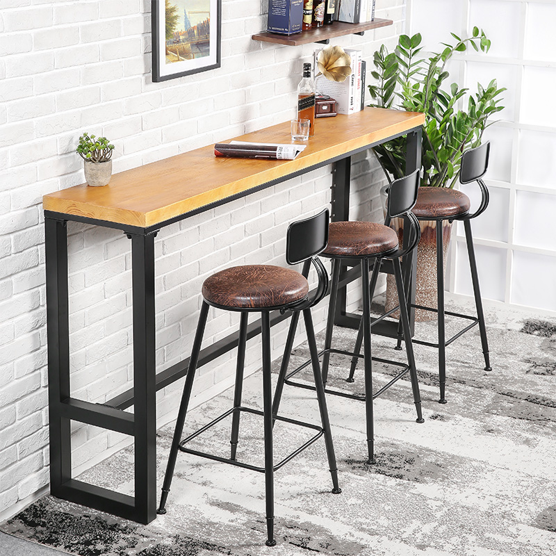 High Table With Stools: Bar Stool Iron Leisure Coffee Shop Tea Shop Wall Hanging
