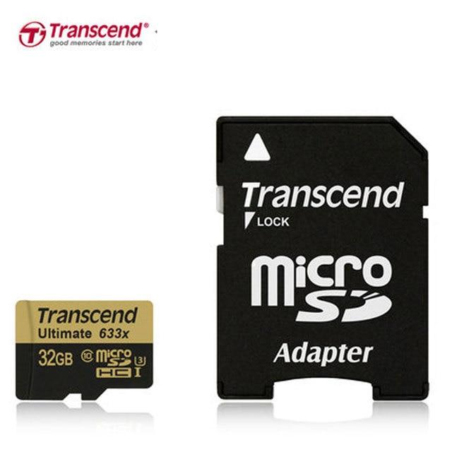 100% Оригинал Transcend Карта Micro Sd 633 GB 32X64 ГБ Class10 U3 MicroSDHC MicroSDXC UHS-I Карты class 10 UHS-3 TF Памяти карты