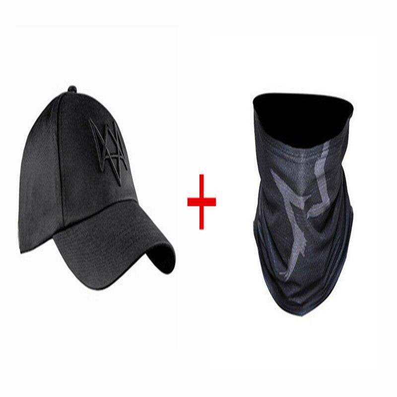 2 шт./компл. Watch Dogs Aiden маска для лица шапочка из хлопка набор Костюмы для косплея маска шапка Для мужчин 6 Панель Бейсбол Кепки s унисекс спортивные Шапки - Цвет: mask and hat