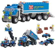 New Original KAZI 6409 city Truck Model Building Blocks Sets 163pcs/lot Deformation Car Bricks Toys Compatible with Legoe W269