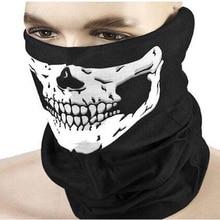 Горячая распродажа мужской женский крутой череп дизайн для взрослых Многофункциональный Лыжный спортивный мотоцикл Байкерский шарф Половина маска для лица спортивная повязка на голову