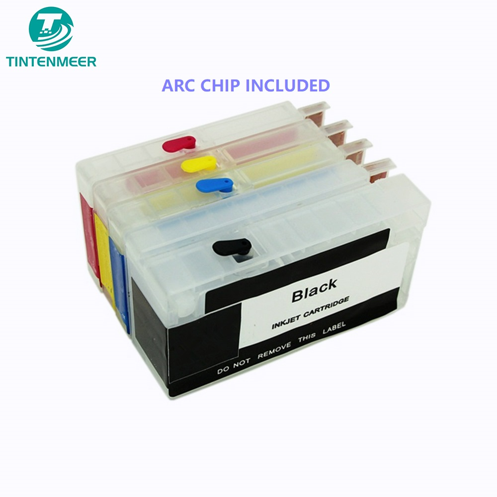 US $69 99 |TINTENMEER refillable empty cartridge with auto reset chip 952  for hp officejet 7740 8210 8216 8710 8715 8720 8725 8730 8740-in Ink