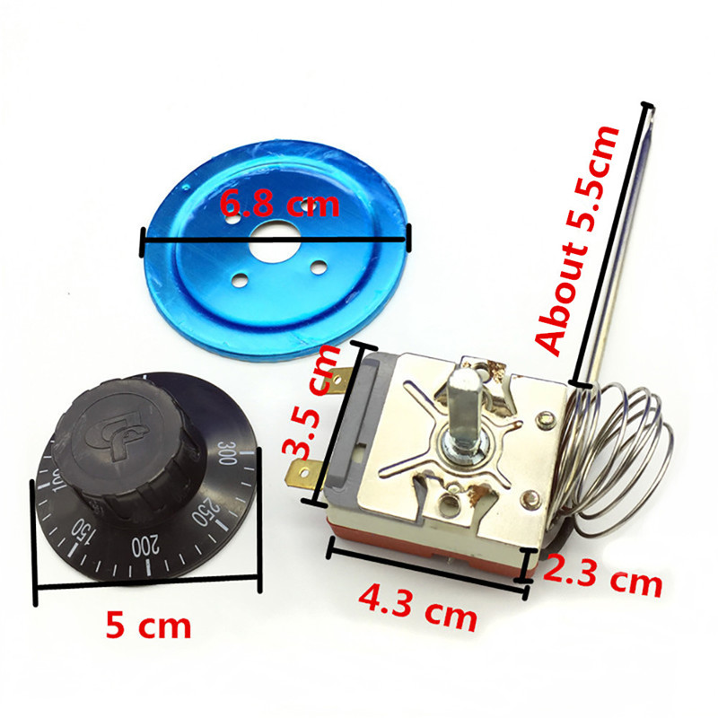 220V 16A Dial Thermostat Temperature Control Switch for Electric Oven QW