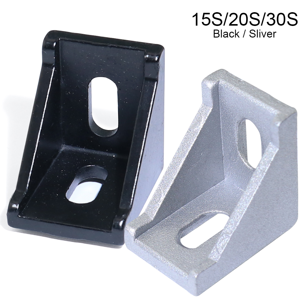 10 20 50pcs 1515 2020 3030 Series Corner Angle L Brackets Connector Fasten Connector For 15S 20S 30S Aluminum Extrusion Profile