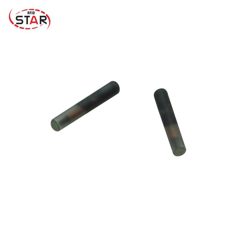 100pcs 1.4*8 MM Iso11784 Fdx-b Pet dog Implant Transponders Microchip Cylindrical Rfid glass Tag rfid transponders