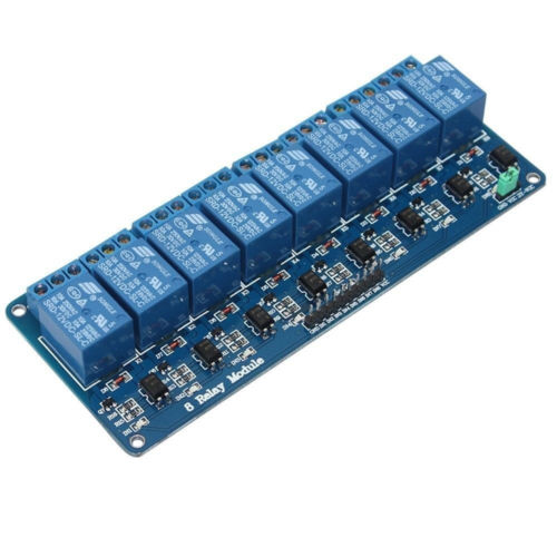 8 Channel DC 5V Relay Module for Arduino Raspberry Pi DSP AVR PIC ARM tai shen ts sdr 5v 2 channel relay expansion module for dsp avr mcu arm white