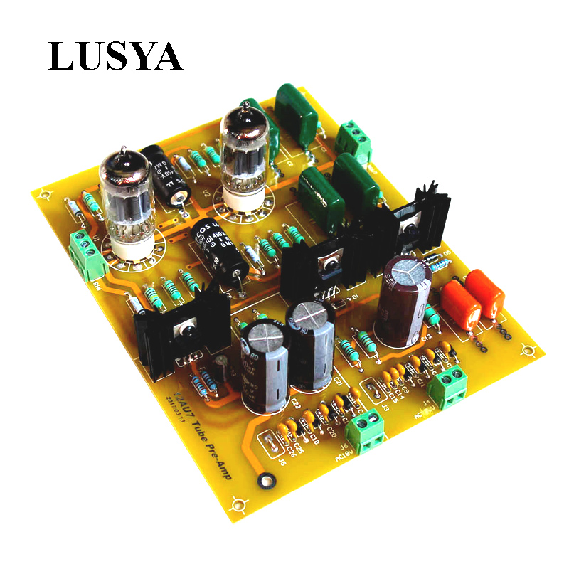 цена на Lusya 12AU7+ ECC82 HIFI Audio Tube pre-amplifier Board DIY kit preamp tube preamplifier