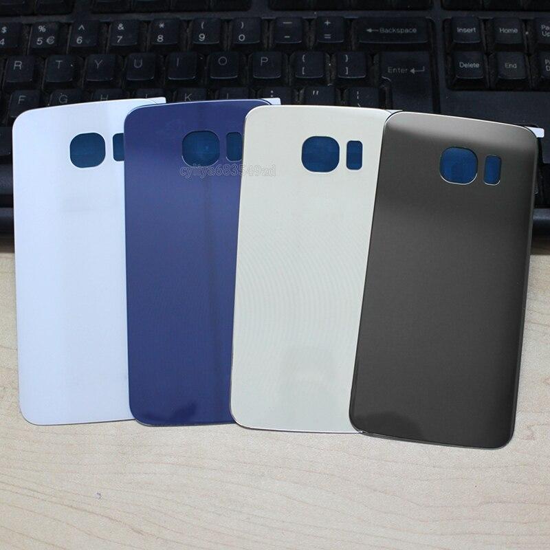 bilder für 10 teile/los Rear Door Battery Zurück Gehäuse Glas abdeckungs-fall Für Samsung GALAXY S6 G920/S6 Rand G925 Echt rückseitige Abdeckung + Adhesive