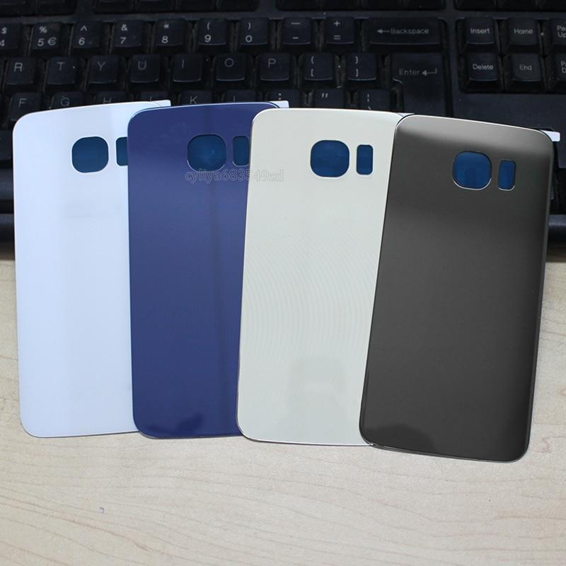 imágenes para 10 unids/lote Puerta Trasera caso de la Cubierta de Batería de Cristal de la Cubierta Para Samsung GALAXY S6 G920/Edge G925 S6 Real Back Cover + Adhesivo