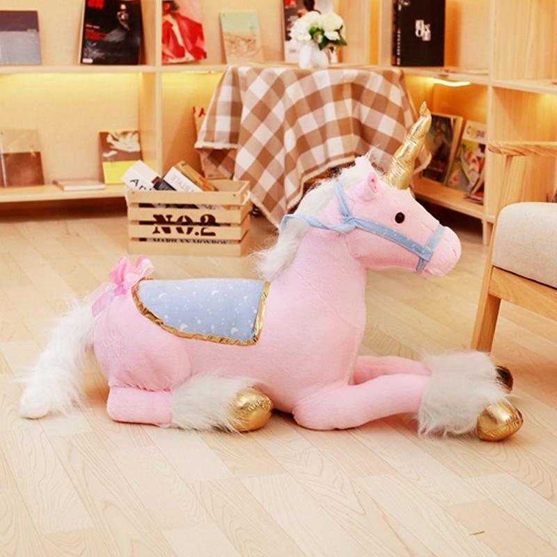 Precioso unicornio de 90 cm de felpa juguetes gigante de peluche unicornio Animal suave muñeca niños habitación decoración bebé foto accesorios para niña niño regalo-in Peluches y muñecos de peluche from Juguetes y pasatiempos    1
