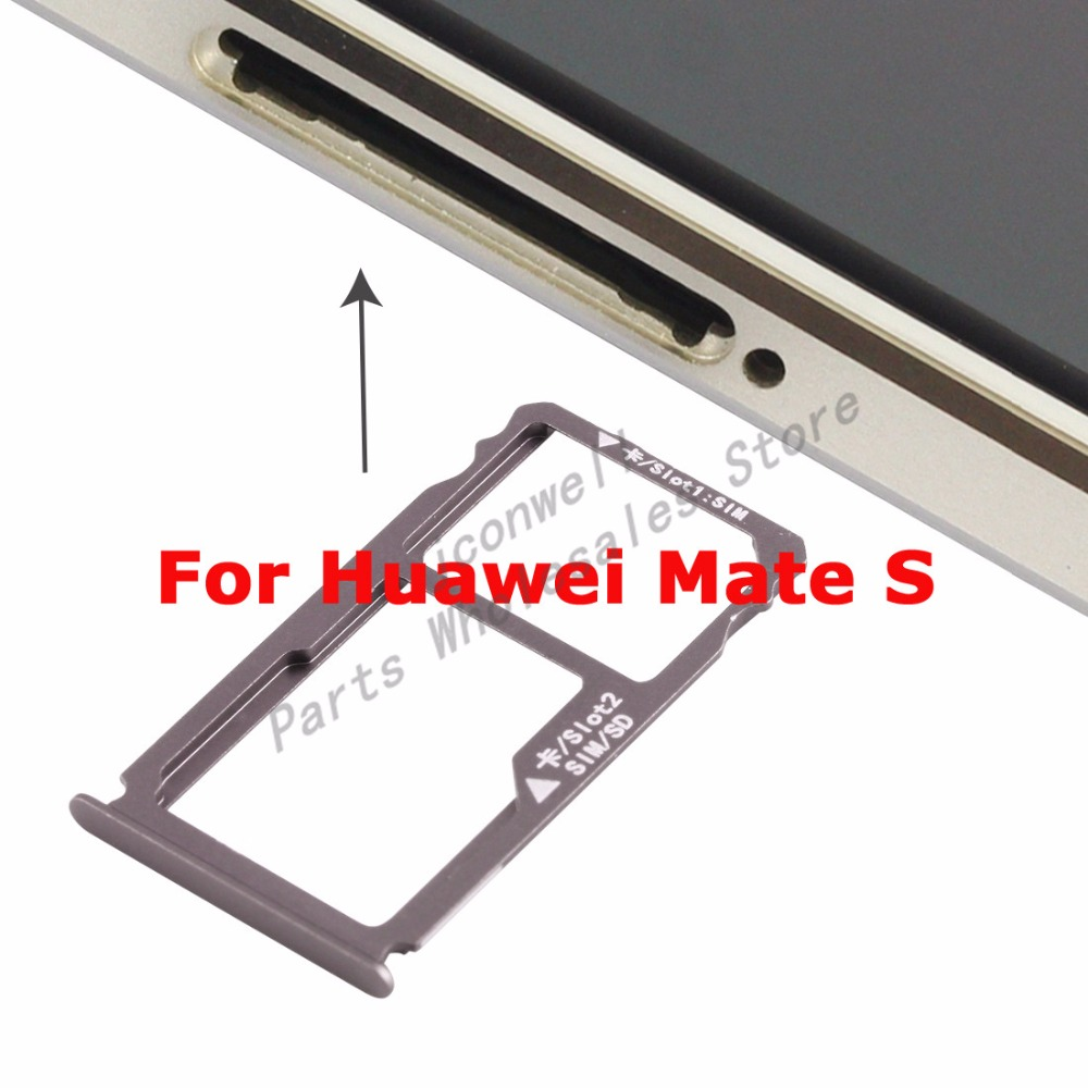 For HW Mate S SIM Card Tray Holder Slot Adapter Micro SD Memory Holder Socket Reader Replacement Repair Parts