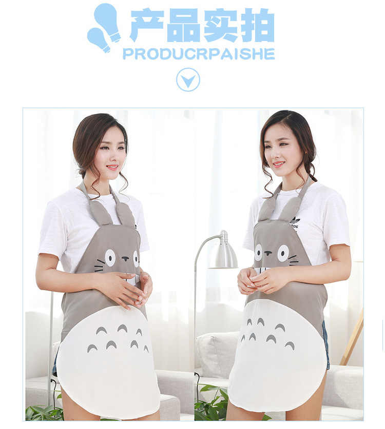 אופנה מהדורת האן יצירתי Totoro קריקטורה סינר עמיד למים ושמן בישול ביתי מטבח סינר ללא שרוולים W-014