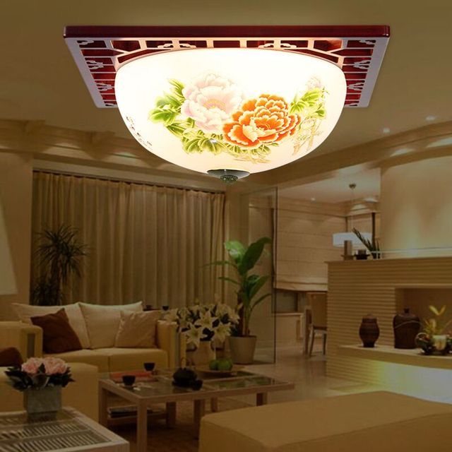 indoor led chinese ceiling lights for living room decor lighting lustres ceramic bamboo christmas party surface - Bamboo Living Room Decor