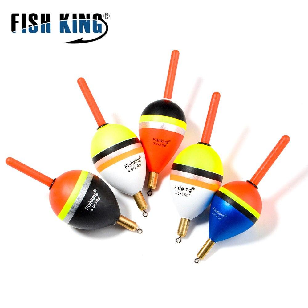 FISH KING 1pcs Mix Size Color Articulos De Pesca Bobber Set Buoy Boia Floats 5 Color Flotador  Fishing Accessories