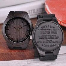 BOBO мужские часы с гравировкой птицы, семейные подарки для папы, папы, мужчин и женщин, кварцевые наручные часы с логотипом для парня, гравировка логотипа D26