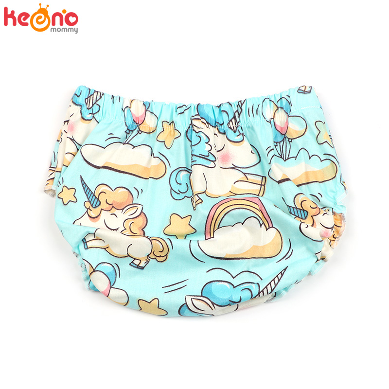 Summer Unicorn Print Newborn Baby Toddler Cotton Bloomers Boys Girls Floral   Shorts   Infant Panties PP   Shorts   Baby Shower Gift