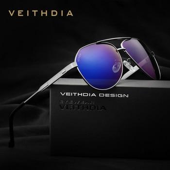 VEITHDIA Gepolariseerde Klassieke Zonnebril Mannen Originele Merk Designer Zonnebril Vintage Eyewear oculos de sol masculino 3562
