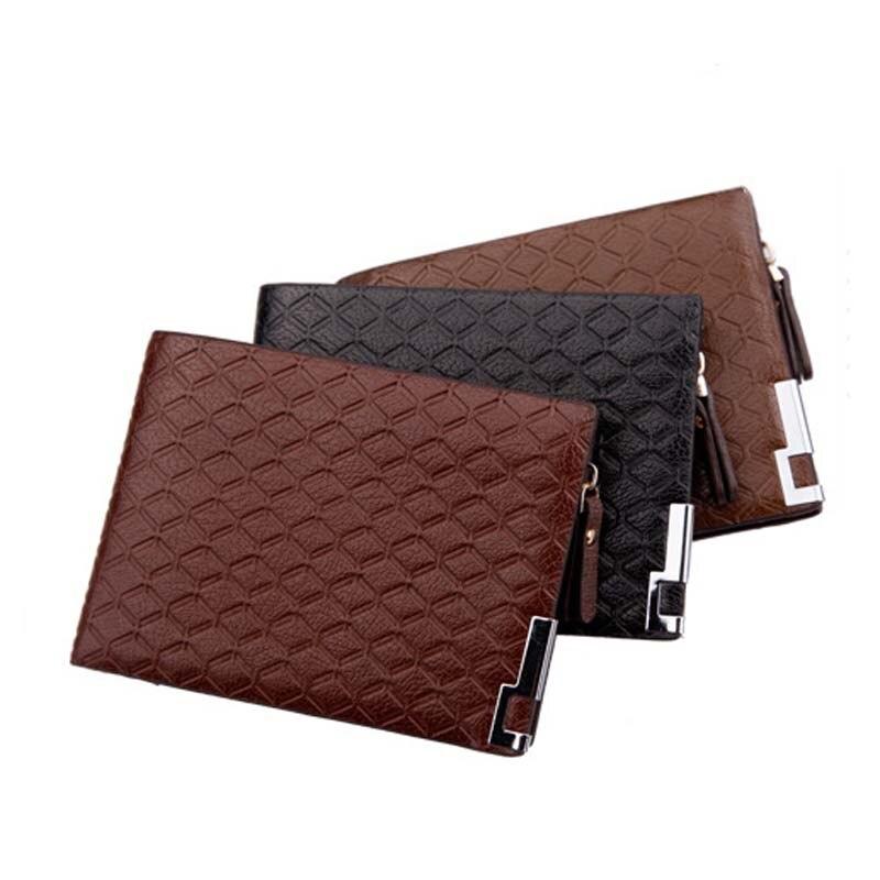 d989c52f4d56 Горячие мужчины кошельки кожаный кошелек на молнии карман плед с короткими  кошелек для мужские кошельки роскоши 40