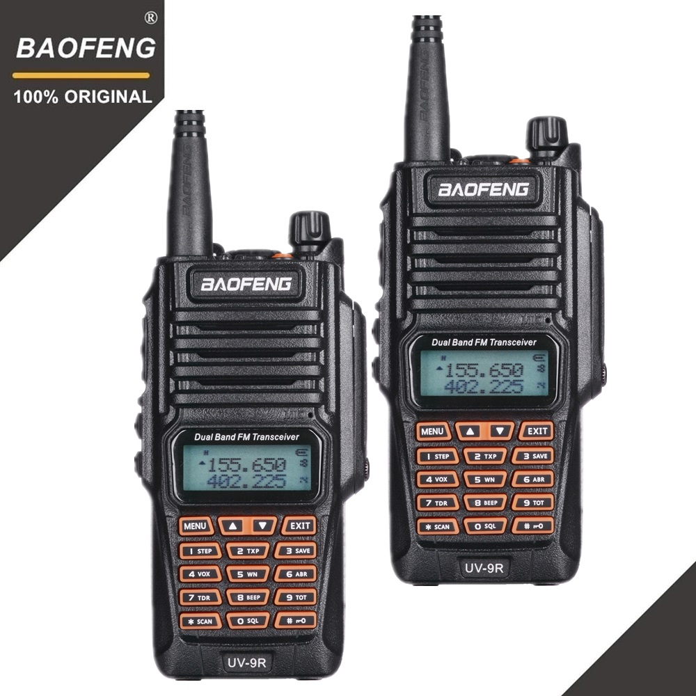2 pcs D'origine Baofeng UV-9R Talkie Walkie Portable IP67 Étanche Amateur Radio Uhf Vhf UV 9R Woki Toki Chasse CB radio UV 9R