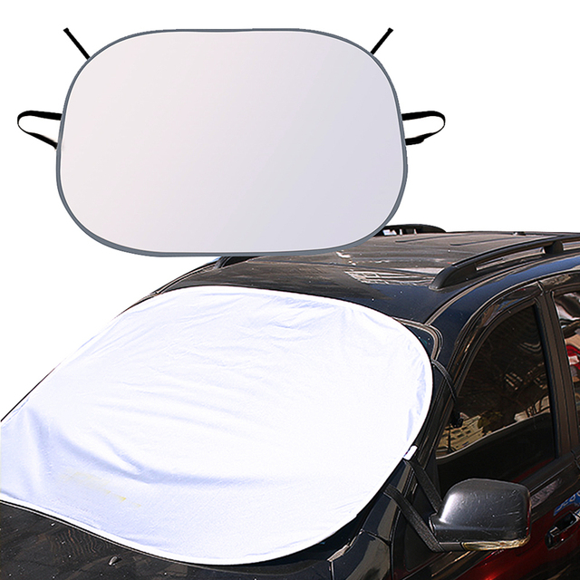 CARSUN Silvery+Black Windshield Sunshade Car Window Windscreen Cover Sun  Shade Auto Sun Visor Car-covers Only For SUV ed6c7068f22