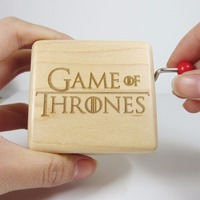 Handmade smilelife Game of Thrones wooden music box special souvenir gift box, birthday new year Christmas gifts free shipping