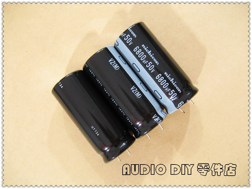 Nichicon Gold  6800uF 63v Radial Capacitor for Audio 2018 D//C UPGRADE FROM 50V