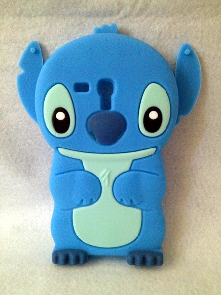 Lovely Stitch 3D Silicone Case For . Samsung Galaxy S3 Mini i8190  High Quality Cell Phone Case Silicone