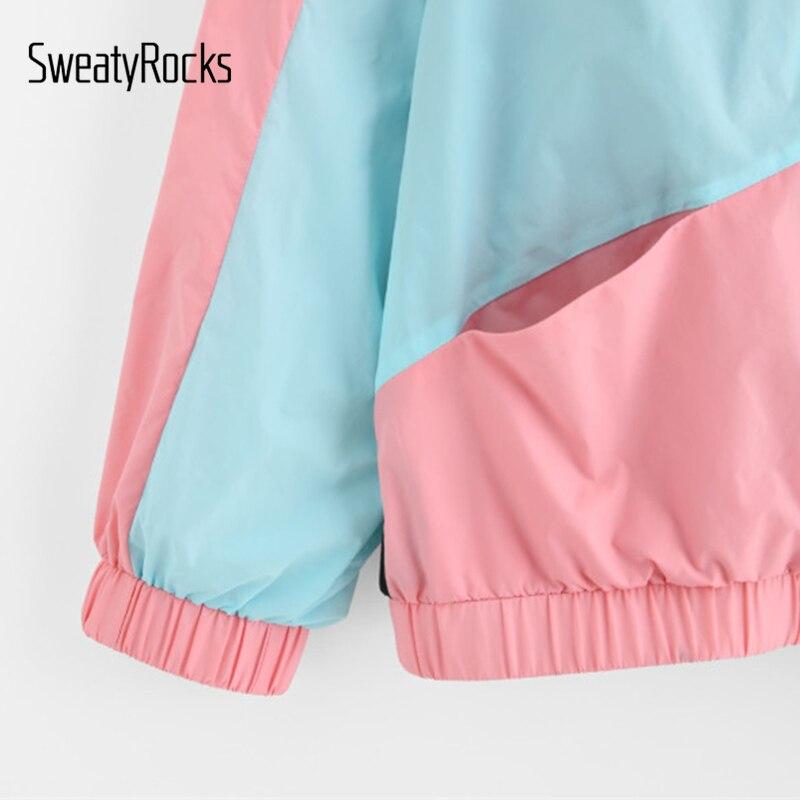 SweatyRocks Frau Winter Mäntel und Jacken Multicolor Zuschneiden und ...