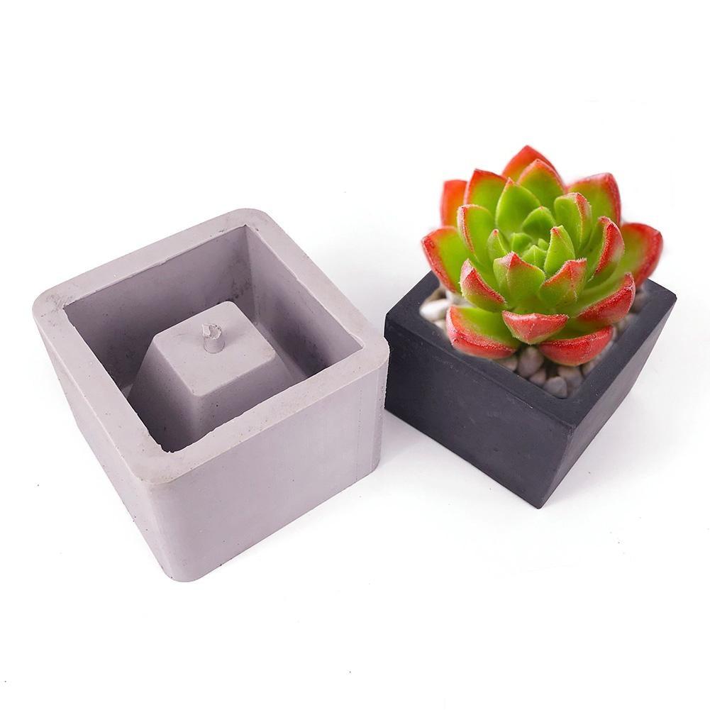 Us 6 94 24 Off 7 3cm 7 3cm Square Ceramic Clay Handmade Flower Pots Mold Diy Concrete Planter Silicone Mould For Home Decoration Desktop Crafts In