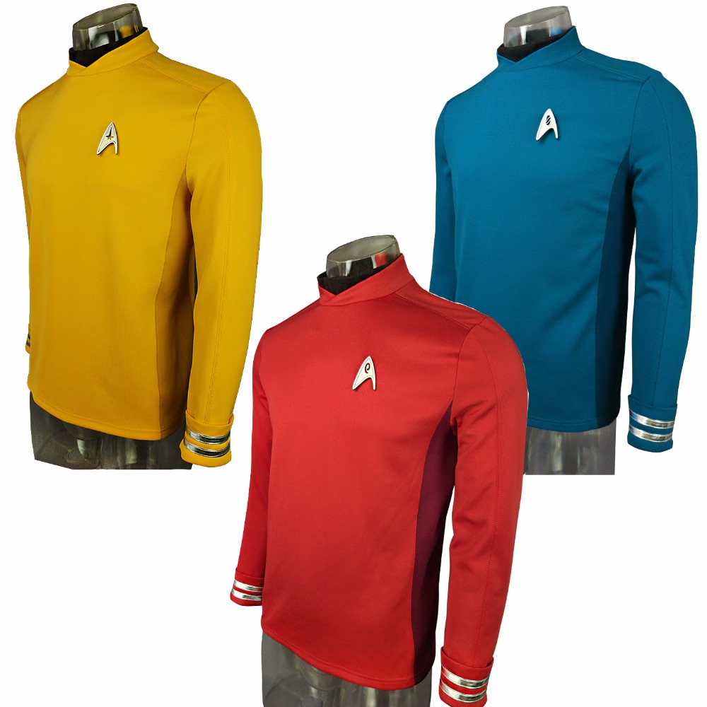 Cosplay Costume Star Trek Beyond Costumes Red Captain Kirk Uniform Spock Blue Uniform Scotty Yellow