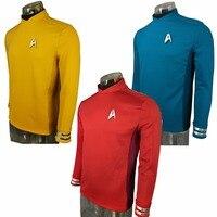 Cosplay Costume Star Trek Beyond Costumes Red Captain Kirk Uniform Spock Blue Uniform Scotty Yellow