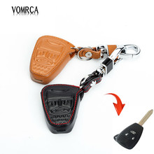 100% genuine leather keys case cover car keys wallet bag for Jeep wrangler Jeep compass Jeep liberty  3 buttons starline a93