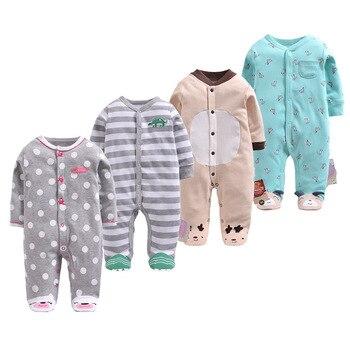 1fc1ab259 Nueva moda de invierno Navidad mamelucos de bebé de algodón patas bebé  niños ropa infantil de dibujos animados bebé mameluco bebé ropa de bebé niña