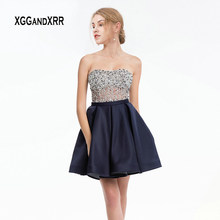 6dfc34749733f Navy Beaded Short Dress Promotion-Shop for Promotional Navy Beaded ...
