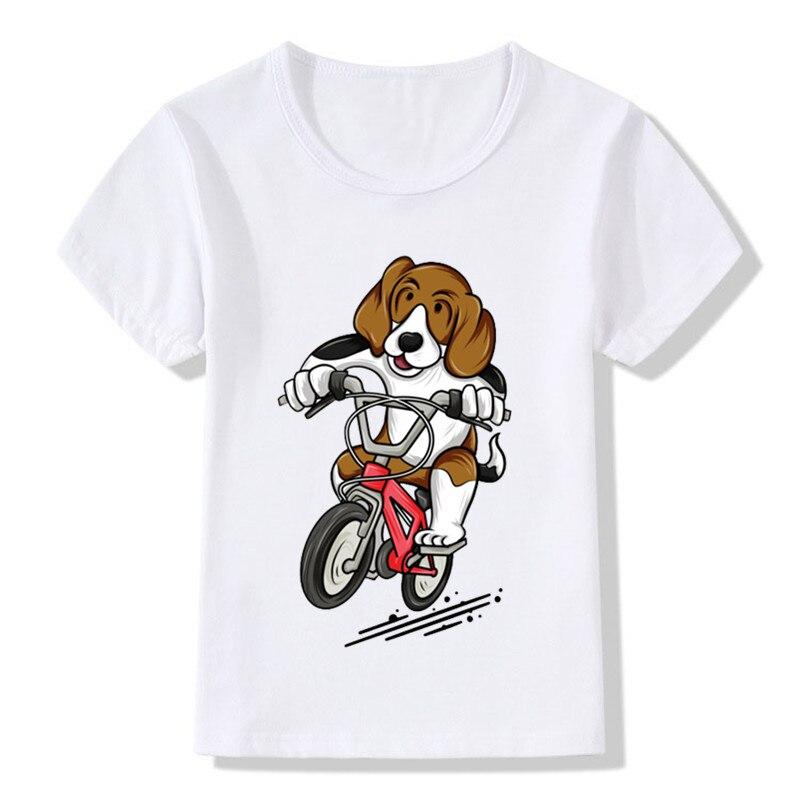 Briljant 2019 Beagle Rider Print Kinderen T-shirts Zomer Jongens En Meisjes Kleding Leuke Hond Corgi Kids Tops Baby Camiseta T-shirt, Ooo2076